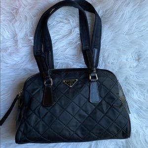 Authentic Prada Quilted Nylon shoulder bag